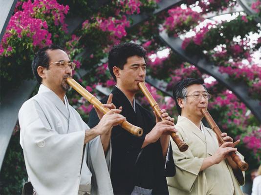 The Japanese teachers MATAMA Kazushi, KAKIZAKAI Kaoru and FURUYA Teruo